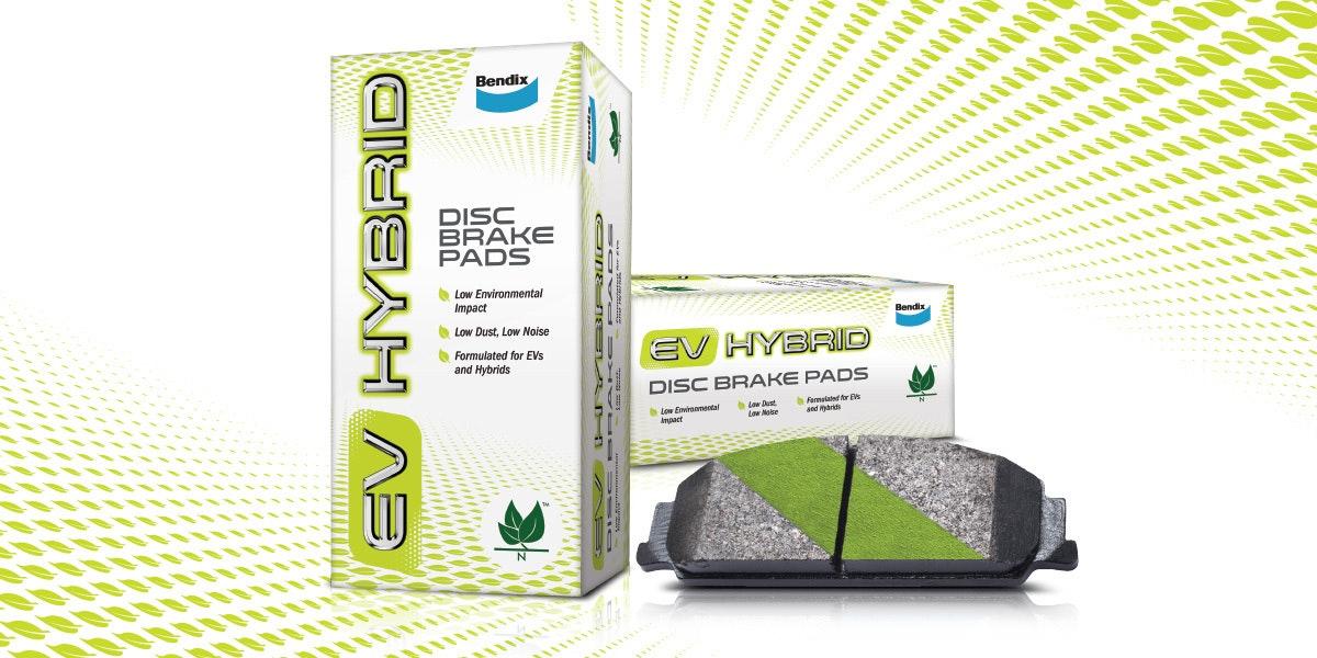 Environmentally friendly brake pads for EV-Hybrid vehicles  – the latest innovative development from Bendix